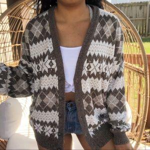 Sweaters - Vintage Boho Oversized Sweater Cardigan SZ XL